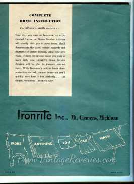 IronRite manual cover