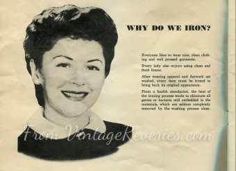 why do we iron