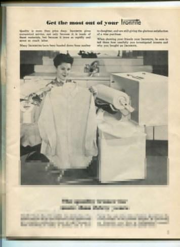 vintage ironing machine