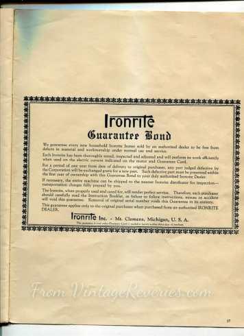 ironrite guarantee
