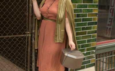 Green 1930s cape