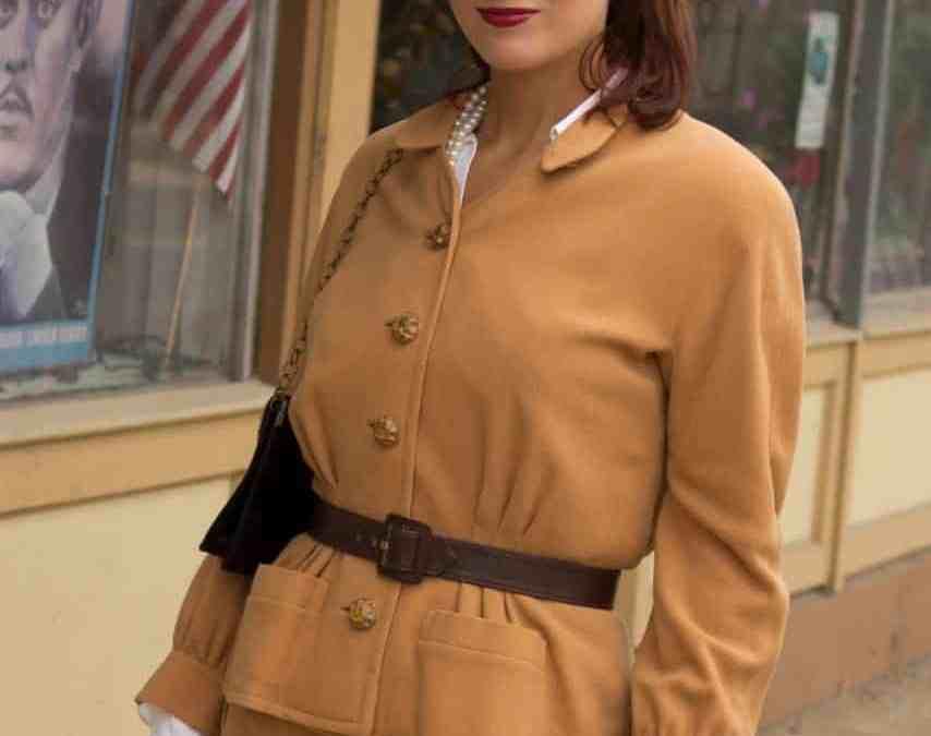 1940s street suit on Anita