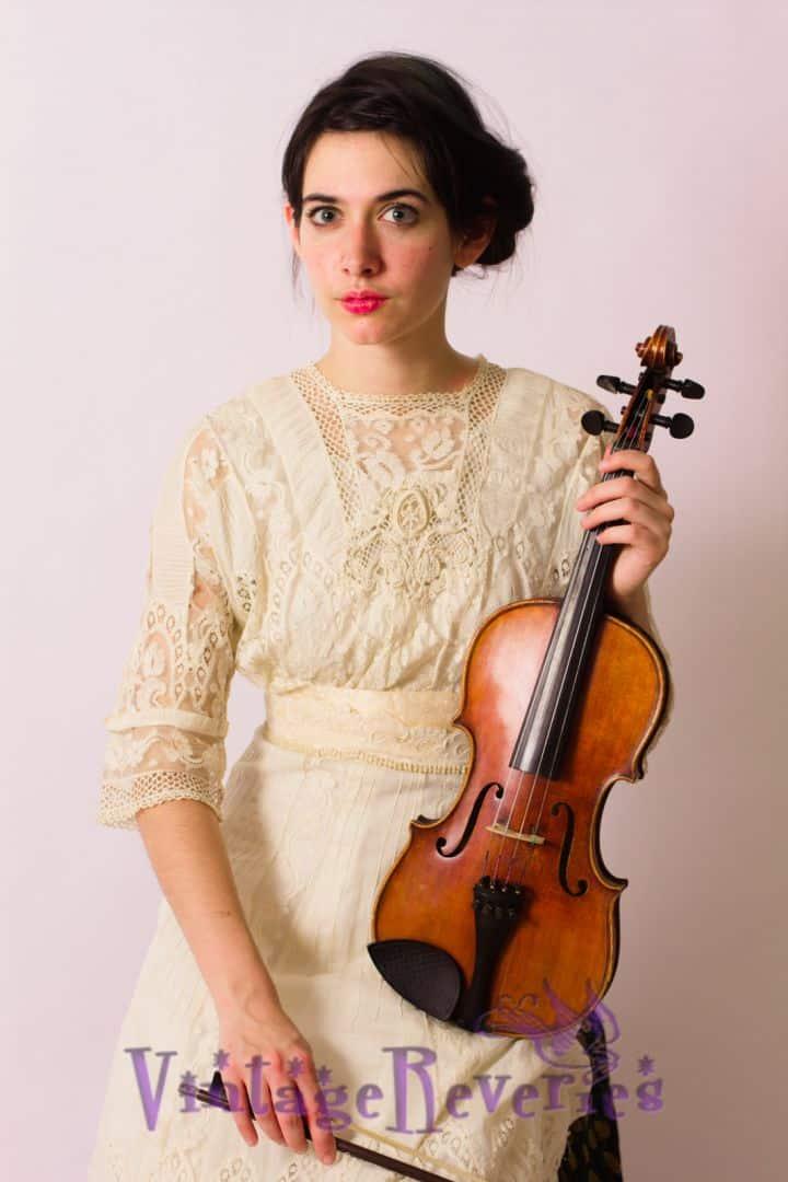 Modeling an Edwardian Lace Dress