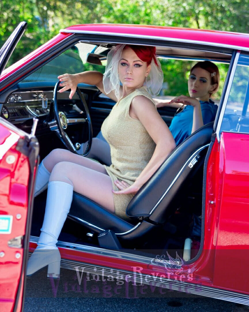 1960s styled model with car pics