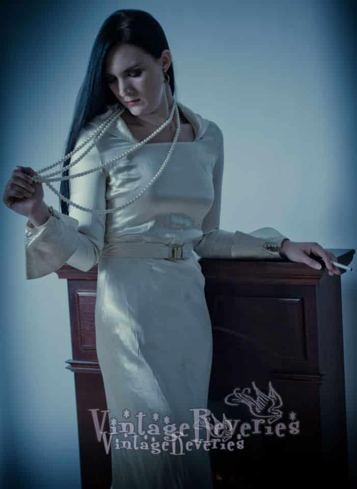 1930s satin dress