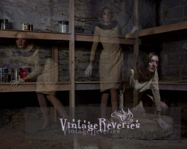 ghost of a vintage dress triple exposure