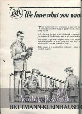 1920s mens clothing ads