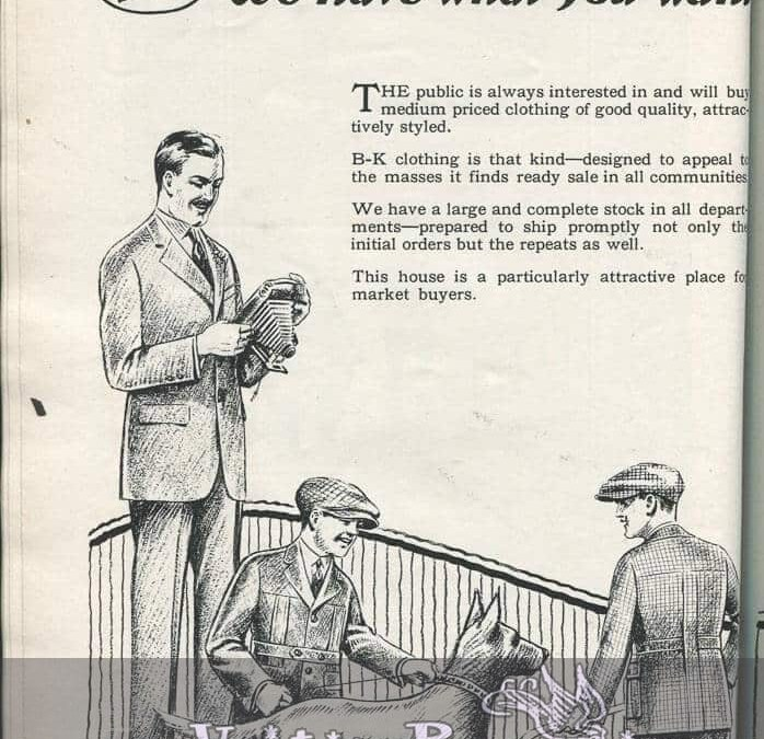 1920s Mens Fashion and Hat Ads