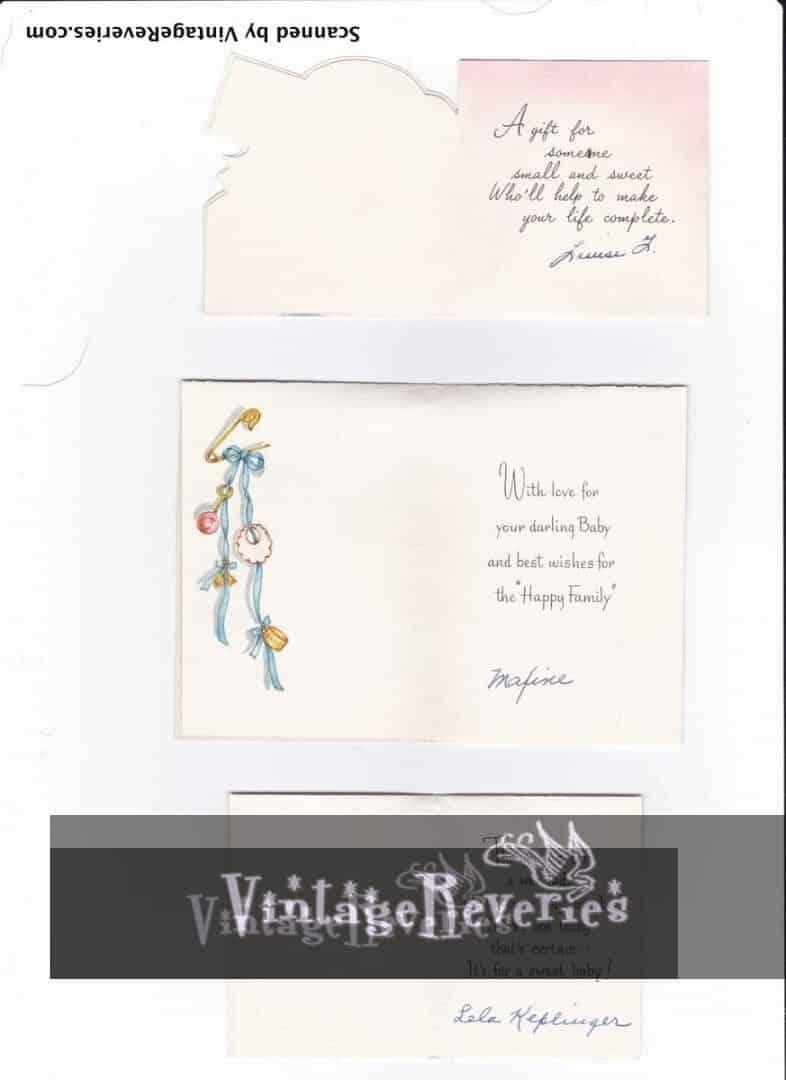1960s babyshower card scans