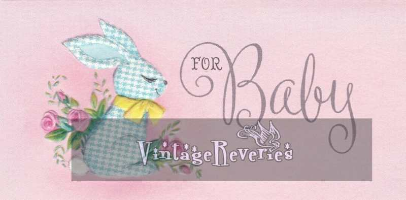 1960s baby rabbit illustration