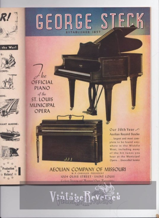 Piano ad from 1940s WWII