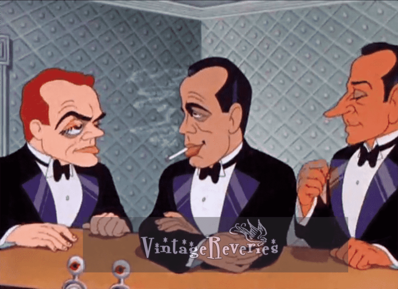 James Cagney, Humphrey Bogart and George Raft