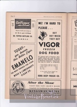 ads for St. Louis businesses in the 1940s
