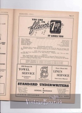 1943 St. Louis Muny Season Program