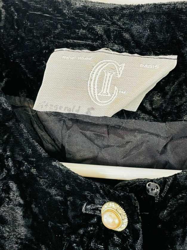 CI New York Paris vintage velvet button down shirt