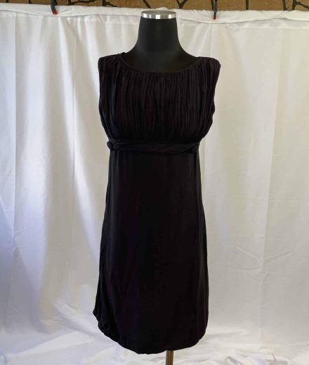 Empire waist vintage little black dress from 1960s