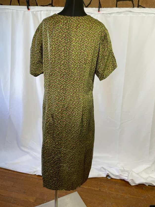 unique green vintage sheath dress
