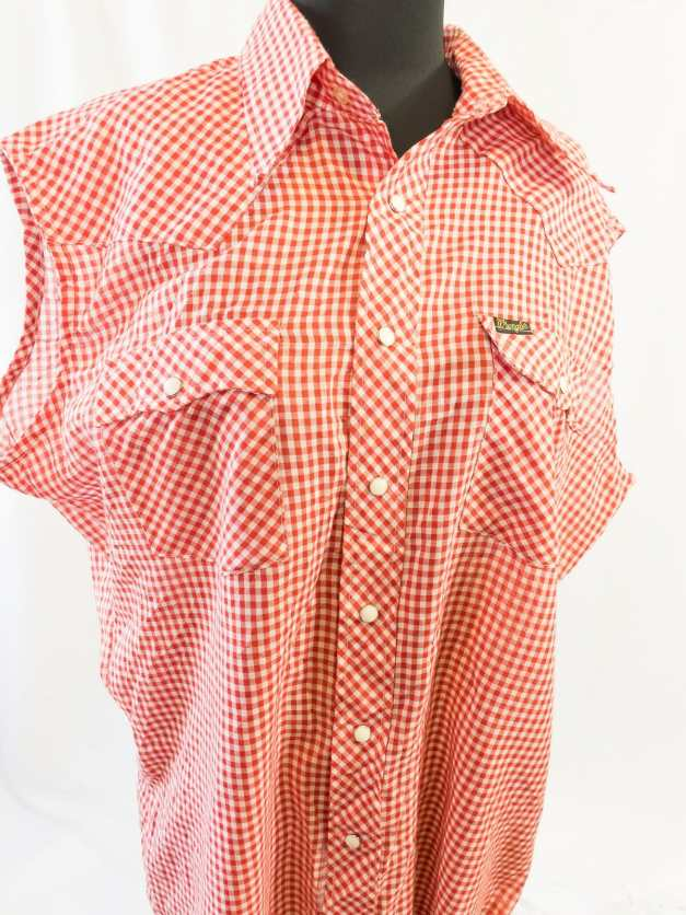 red gingham pinup shirt vintage