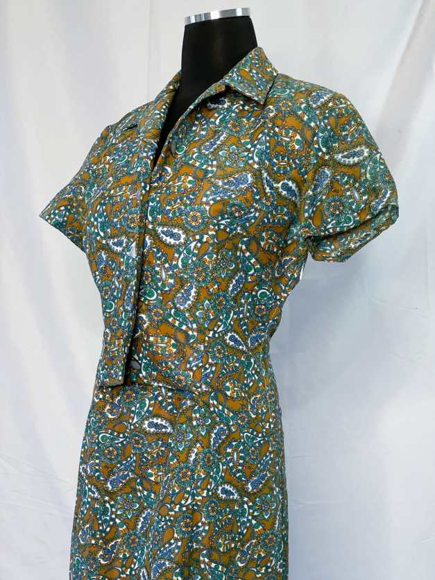 1970s paisley dress for sale