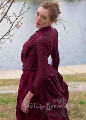 1880s going away dress