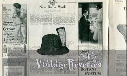 Edwardian Raffia Hat Making Instructions & 3 Collar & Cuff Sets