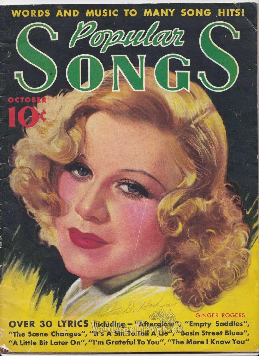 Popular Songs Magazine: October 1935