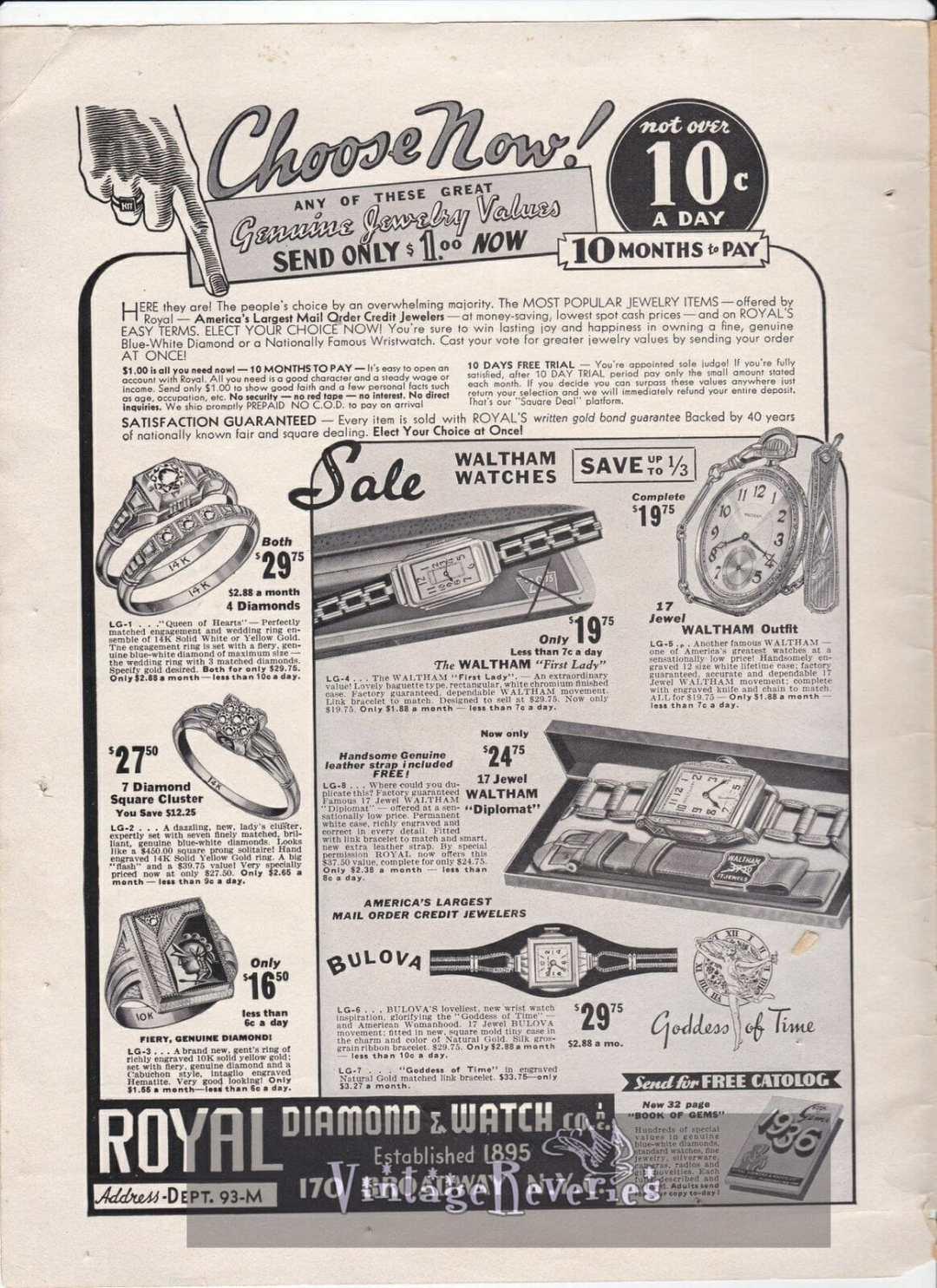 1935 Jewelry Advertisement