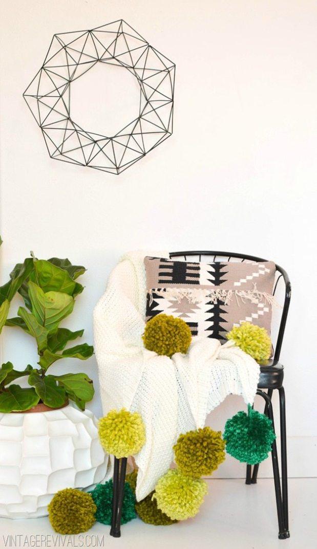 Pom pom crafts, How To Make Pom Pom blanket