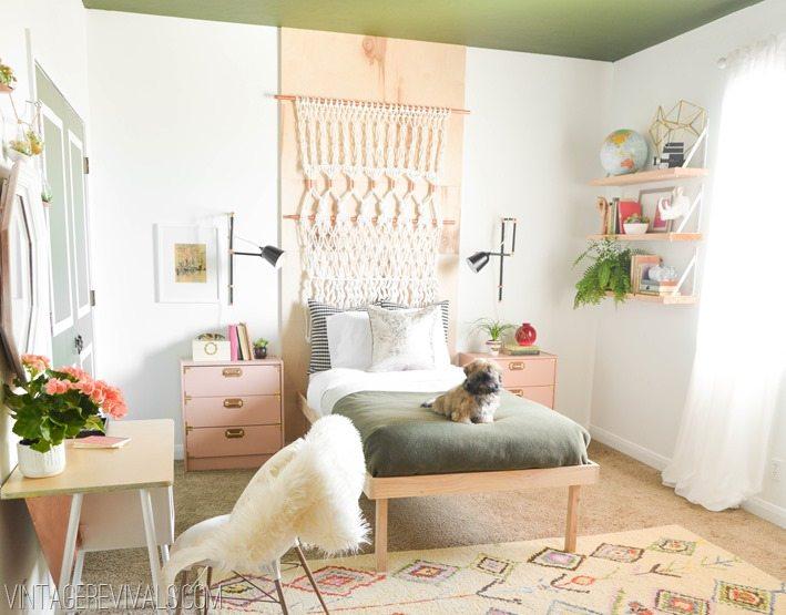 Macies Boho Bedroom Makeover Reveal  Vintage Revivals