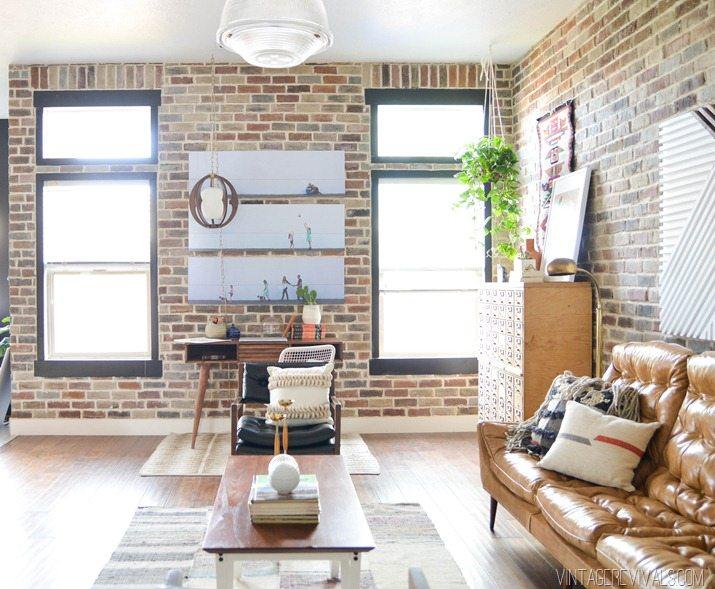 Loft Living Room  Entryway Makeover Reveal  Vintage