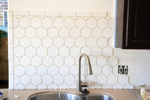 hexagon tile kitchen backsplash Hexagon Tile in the Kitchen! - Vintage Revivals