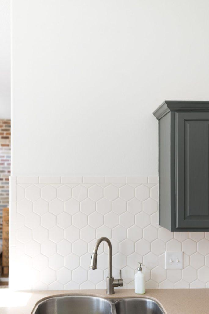 hexagon tile in the kitchen vintage