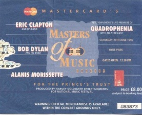 The Who play Quadrophenia with Eric Clapton, Bob Dylan, Alanis Morissette Hyde Park 29th June 1996 (1/2)