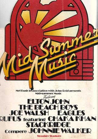 Elton John, Beach Boys, Eagles Wembley Stadium June 1975 (2/2)