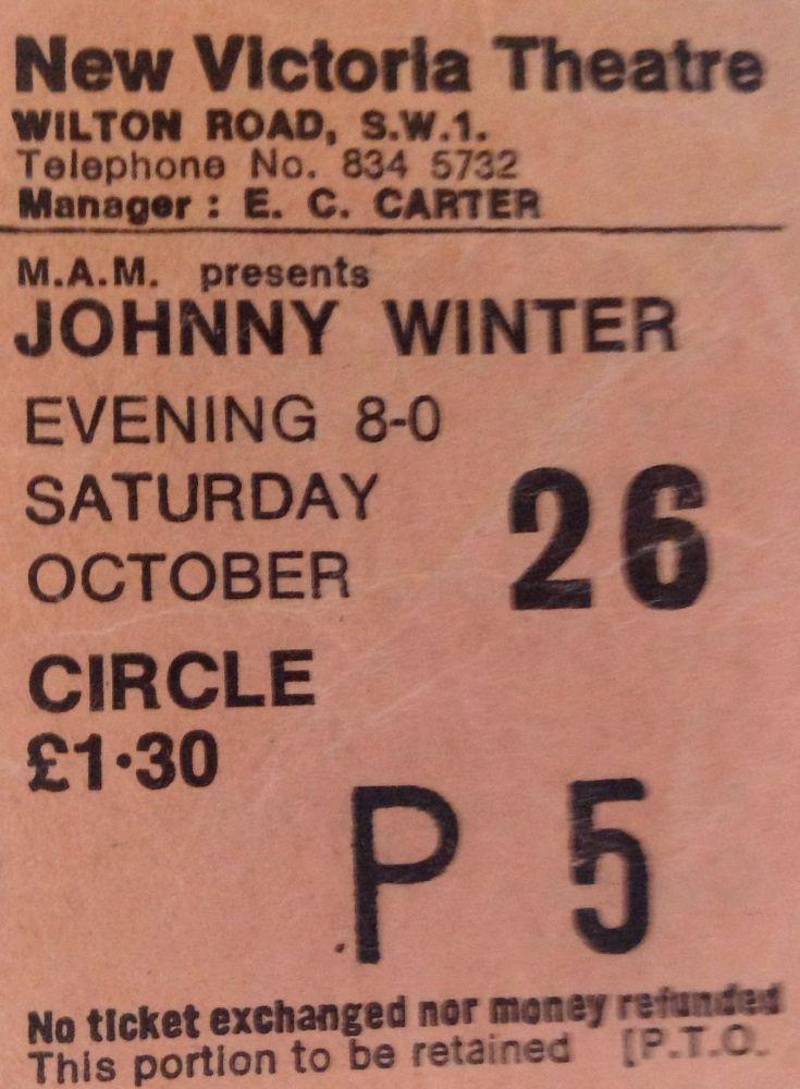 Johnny Winter New Victoria Theatre London 26th October 1974 (1/3)