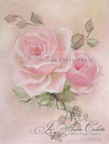 Pin Rose Paintings Shabby Chic Antique Roses Romantic on