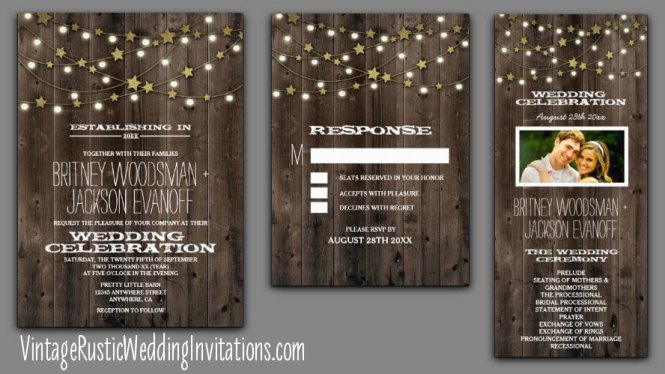 Outdoor Garden Firefly Wedding Invitations