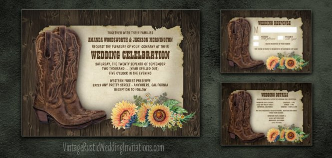 Country Themed Wedding Invites – Country Theme Wedding Invitations