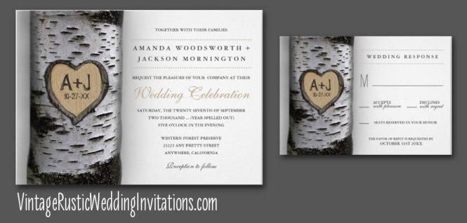 Birch Tree Save The Dates