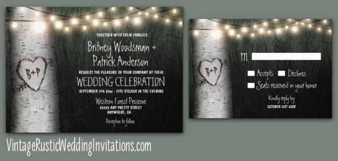 Love Tree Rustic Wedding Invitations