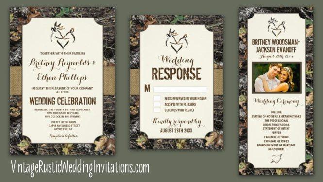 Camo Wedding Invitations 5346