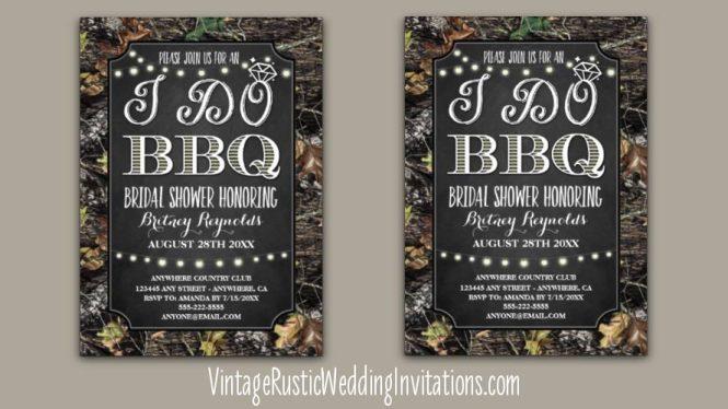 Mossy Oak Camo Wedding Invitation