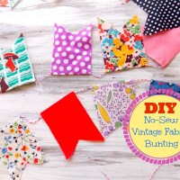 No-Sew Vintage Fabric Bunting - DIY