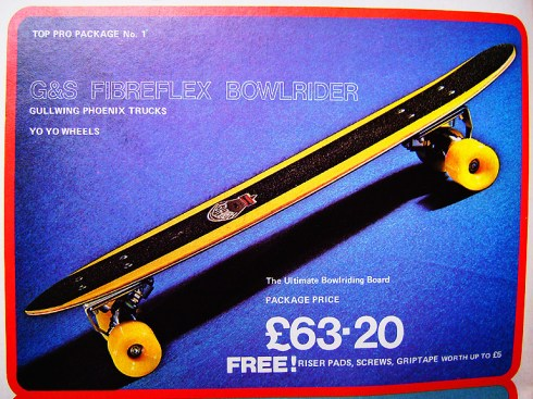 G&S skateboard decks G&S Fibreflex Bowlrider   VintageSkateboard.net