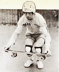 Jock Paterson. Skateboarding in Brighton in 1977. Photo is probably BBC Copyright