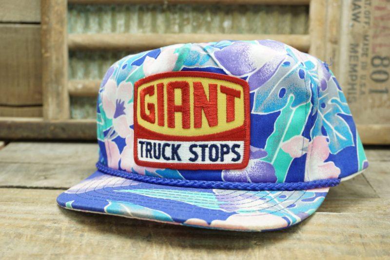 VINTAGE GIANT TRUCK STOPS SNAPBACK TRUCKER HAT