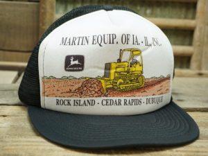 John Deere Martin Equip. IA IL Vintage Hat