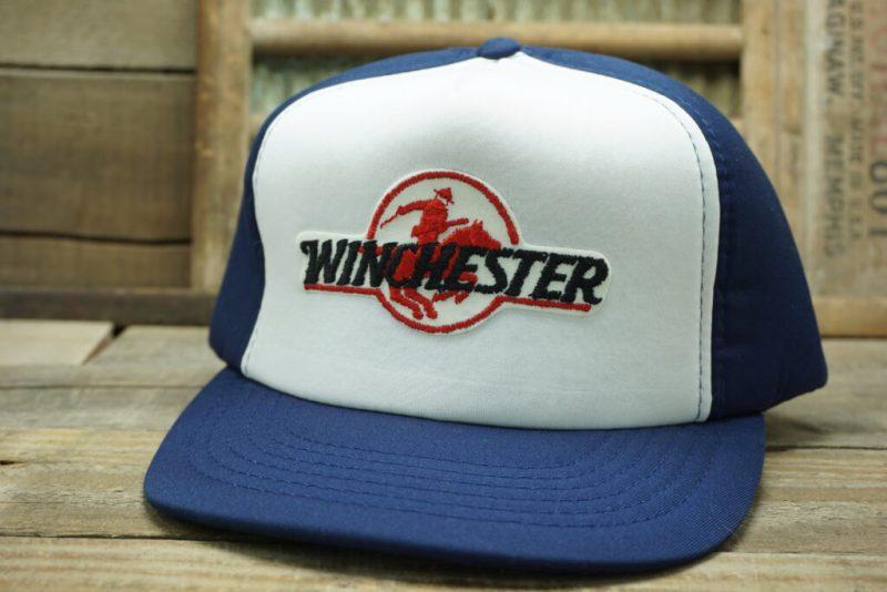 Vintage Winchester Firearms & Ammunition Snapback Trucker Hat Cap