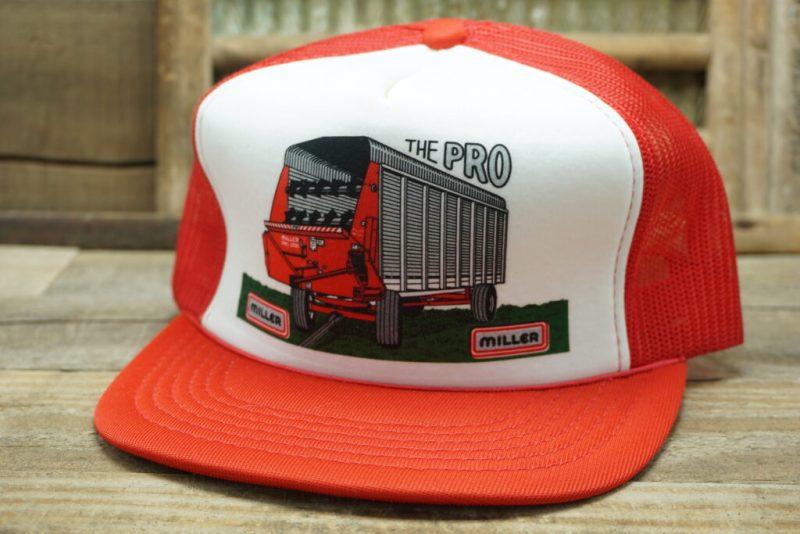 Vintage MILLER THE PRO 2200 Snapback Trucker Hat Cap