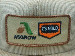 Asgrow O's Gold Corduroy Hat